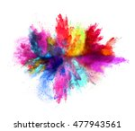 explosion of colored powder ... | Shutterstock . vector #477943561