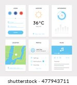 clean white mobile web ui kit....