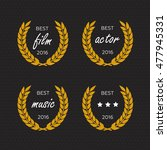 best award gold award laurel... | Shutterstock . vector #477945331