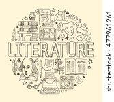 Literature Hand Drawn Vector...