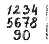 set of numbers. painted by... | Shutterstock . vector #477961849