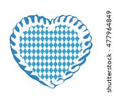 bavarian rhombs on gingerbread... | Shutterstock .eps vector #477964849