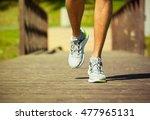 male runner running.  | Shutterstock . vector #477965131