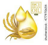 rice bran oil. vector... | Shutterstock .eps vector #477970654
