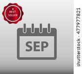 calendar september vector icon...
