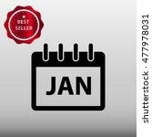 calendar january vector icon...