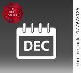 calendar december vector icon...