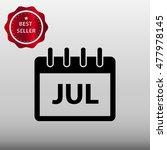 calendar july vector icon...