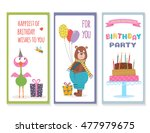 set of birthday greeting cards... | Shutterstock .eps vector #477979675
