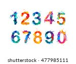 collection of digits. numbers ... | Shutterstock .eps vector #477985111