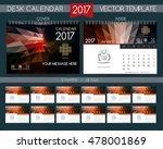 calendar 2017. design desk... | Shutterstock .eps vector #478001869