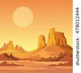 Landscape Of The Desert. Vecto...
