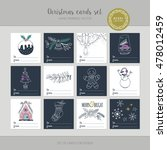 christmas greeting card set... | Shutterstock .eps vector #478012459