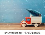 christmas tree on toy truck car ... | Shutterstock . vector #478015501