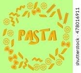 pasta on green background | Shutterstock .eps vector #478016911