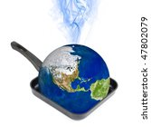 global warming concept. earth