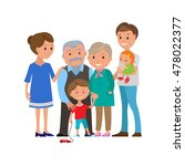 illustration of happy family... | Shutterstock . vector #478022377