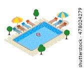 swimming pool  isometric... | Shutterstock .eps vector #478024279
