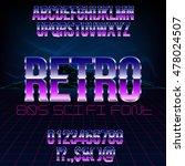 retro futurism 80's sci fi... | Shutterstock .eps vector #478024507