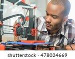 male technician using 3d... | Shutterstock . vector #478024669