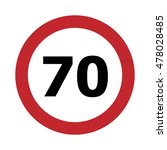 traffic sign speed limit 70 ... | Shutterstock .eps vector #478028485