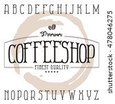 coffee shop label typeface in... | Shutterstock .eps vector #478046275