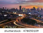 cityscape downtown with highway ... | Shutterstock . vector #478050109