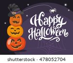 happy halloween greeting... | Shutterstock .eps vector #478052704