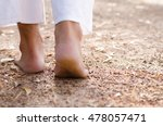 man buddhist walking on street... | Shutterstock . vector #478057471