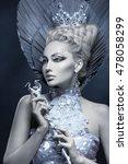 portrait of winter queen   Shutterstock . vector #478058299
