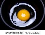 Egg, yellow yolk - stock photo