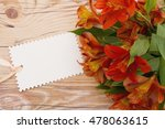 some lilies on weathered wood... | Shutterstock . vector #478063615