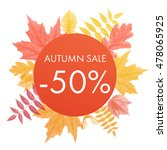 autumn sale 30  off circle... | Shutterstock .eps vector #478065925
