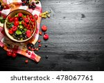 fresh berries in a cup on the... | Shutterstock . vector #478067761
