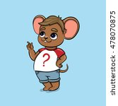 funny mouse in cartoon style.... | Shutterstock .eps vector #478070875
