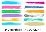 big colorful vector art brush... | Shutterstock .eps vector #478072249
