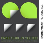 set of vector stickers with... | Shutterstock .eps vector #478082461