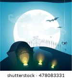 blue halloween background with... | Shutterstock .eps vector #478083331