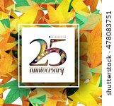 25th years anniversary... | Shutterstock .eps vector #478083751