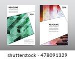 brochure layout template flyer... | Shutterstock .eps vector #478091329