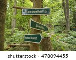 guidepost in the forest near... | Shutterstock . vector #478094455
