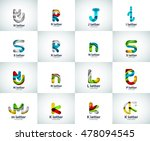 vector set of letter logo icons ... | Shutterstock .eps vector #478094545