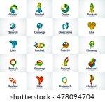 vector set of abstract unusual... | Shutterstock .eps vector #478094704