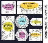 vector vintage template label... | Shutterstock .eps vector #478095721