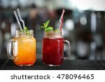 different cocktails in glass... | Shutterstock . vector #478096465