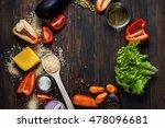 organic vegetarian ingredients  ... | Shutterstock . vector #478096681