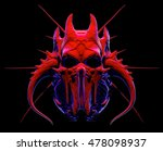 skull design on a black... | Shutterstock . vector #478098937