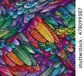 vector color feather seamless... | Shutterstock .eps vector #478099387
