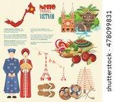 travel to vietnam. set of... | Shutterstock .eps vector #478099831