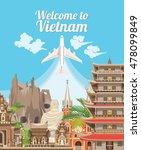 travel to vietnam. set of... | Shutterstock .eps vector #478099849